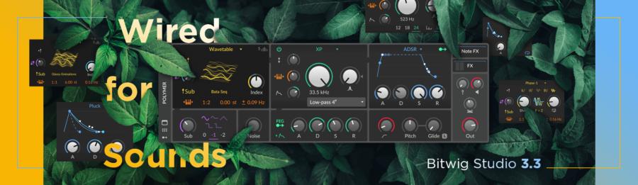 Bitwig Studio 3.3メディアキット